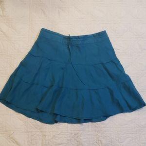 Caslon ruffled linen skirt